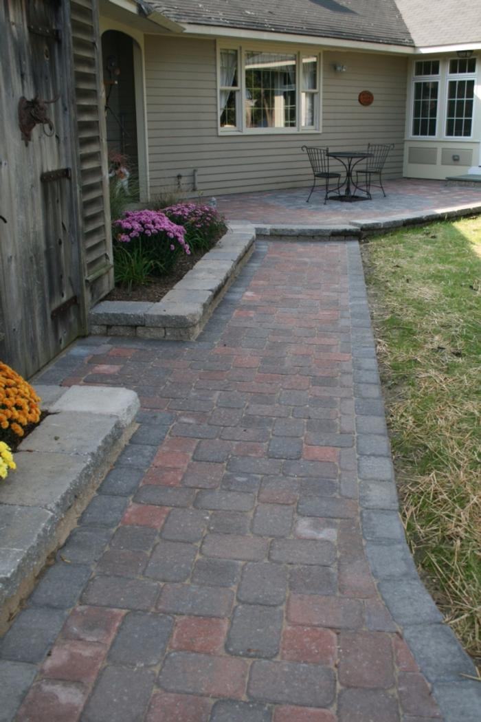 Paver Walkway And Patio Snow Amp Sons Landscaping